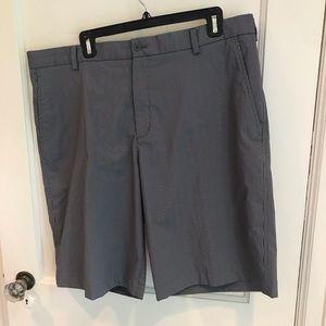 Nike shorts, size 38, gray stripe wicking fabric